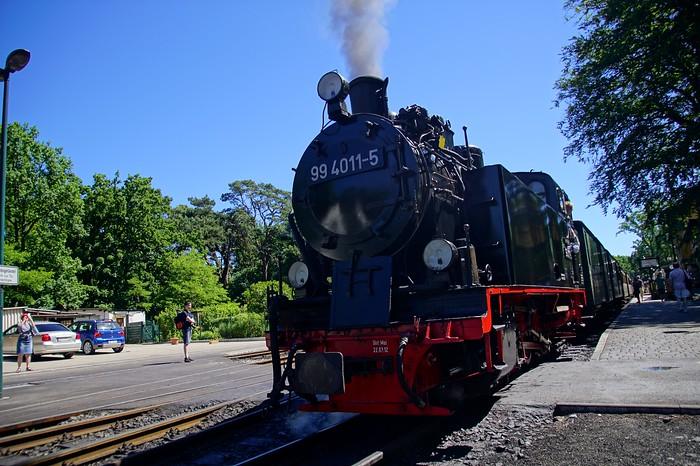 The Rasender Roland steam engine train