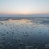 Sonnenuntergang an der Nordseeküste in Sankt Peter-Ording