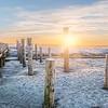 Sonnenaufgang im Vorland an der Nordseeküste in Sankt Peter-Ording