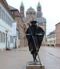 Pilgrim, Speyer, 20 March 2013.  Apparently setting off from the cathedral.