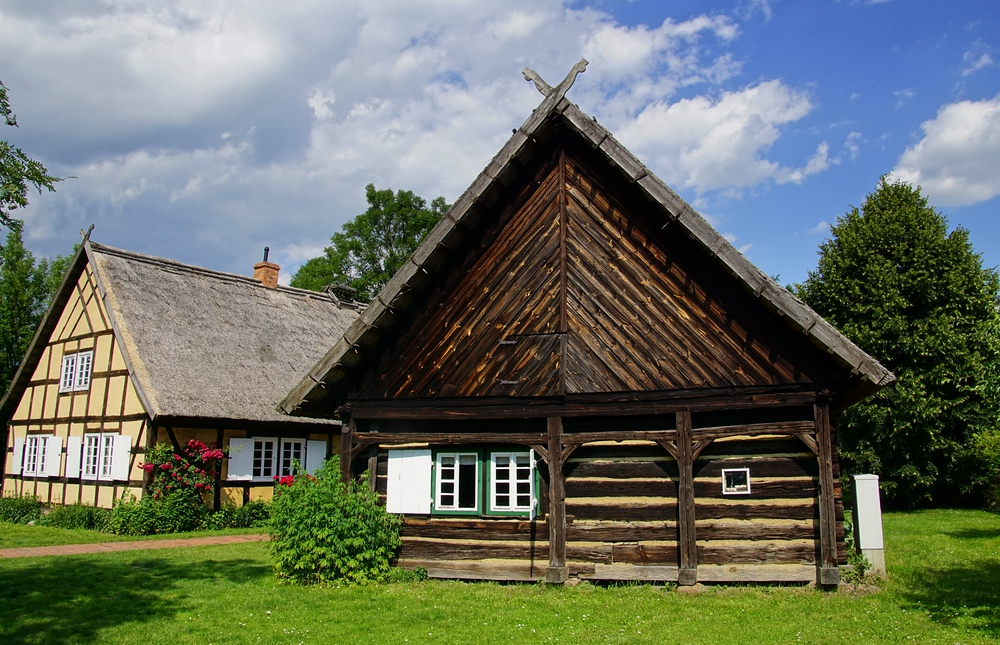 Traditional homes in Spreewald, Germany