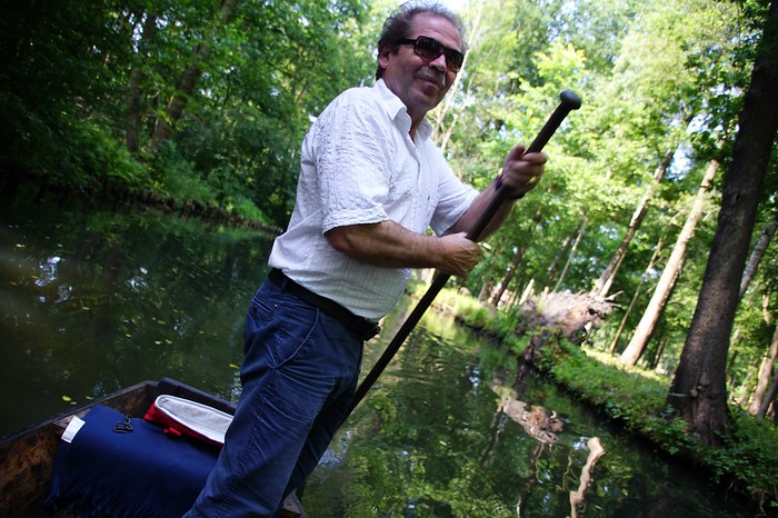 Punting in Spreewald, Germany