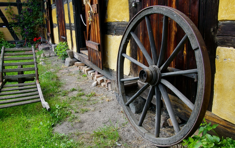 German traditional homes in the open-air museum located in Spreewald, Germany