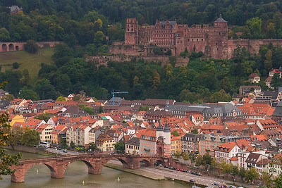 Old Town Heidelberg and Heidelberg Castle