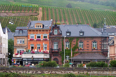 Town along the Rhine River
