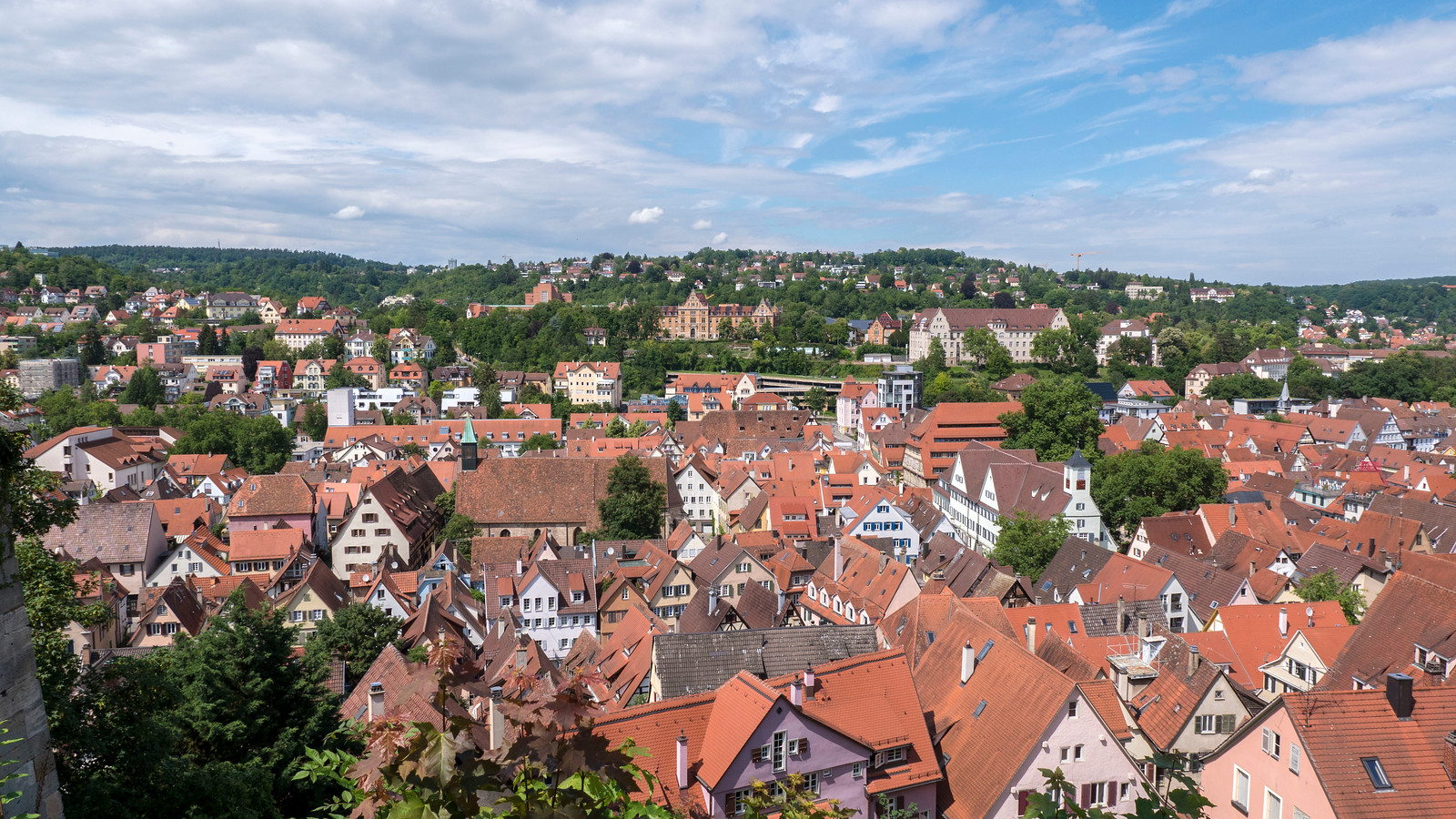 Views from the castle grounds in Tubingen. Things to do in Tubingen Germany.