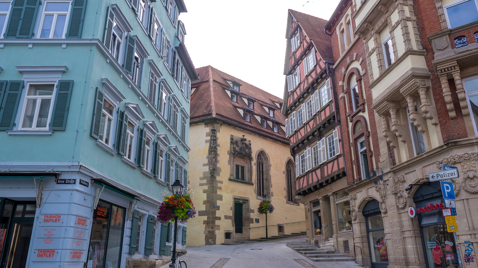 Cobblestone streets and colourful houses of Tubingen. Things to do in Tubingen Germany.