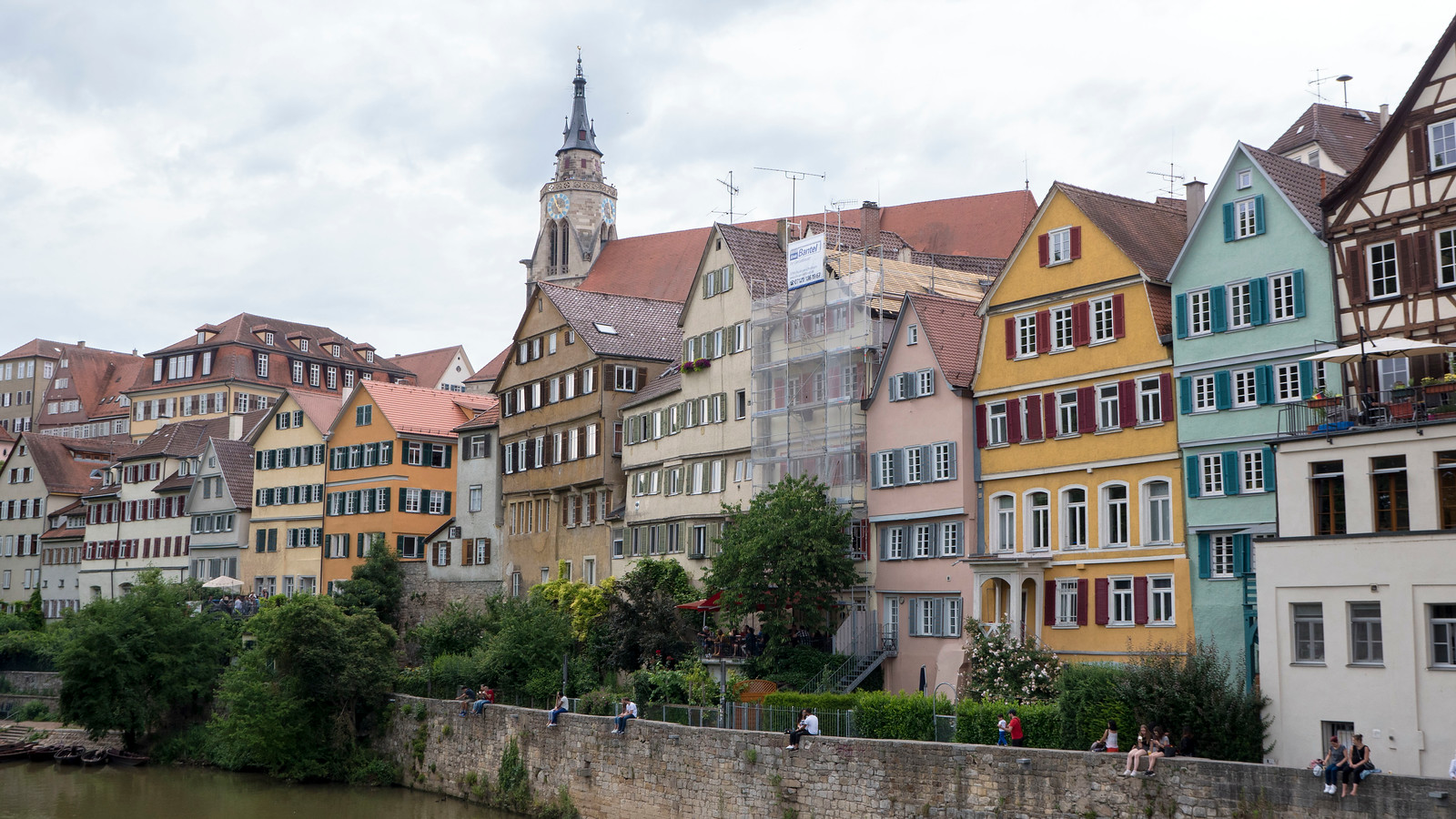 Colourful houses on the Neckar. Things to do in Tubingen Germany.