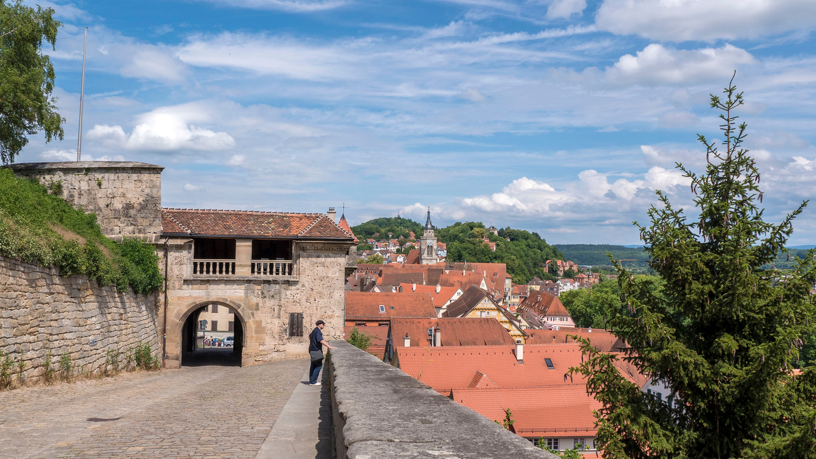 Views from the Schloss. Things to do in Tubingen Germany.
