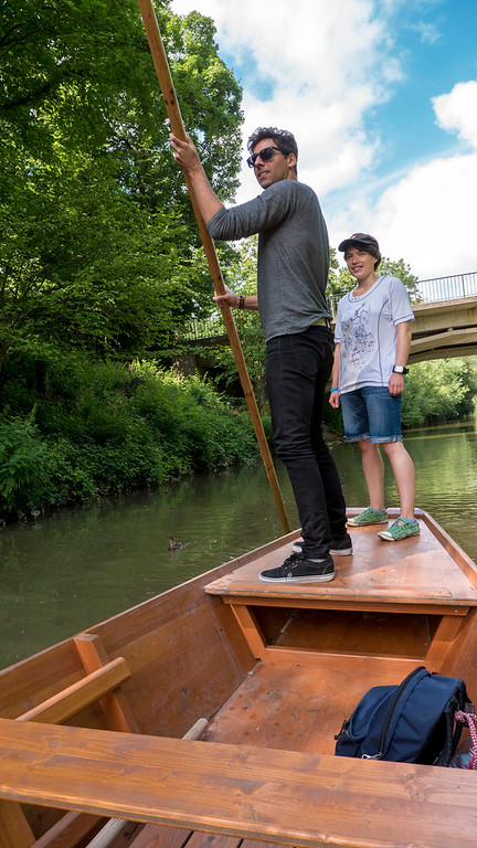 Trying punting for the first time in Tubingen. Things to do in Tubingen Germany.
