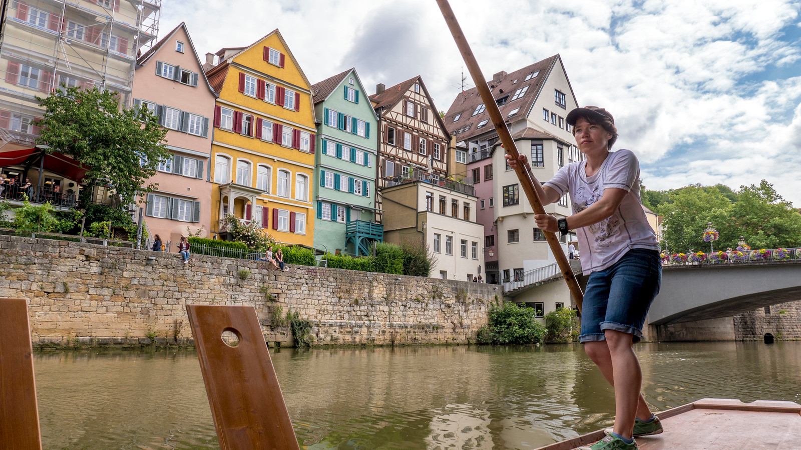 Punting in Tubingen, Germany. Things to do in Tubingen Germany.