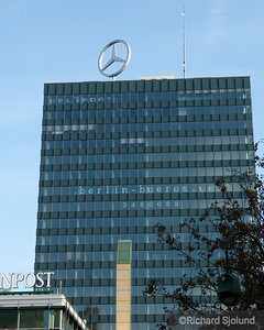 The Mercedes Star atop the Europa-Center in Berlin Germany