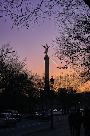 Victory Column At Sundown.