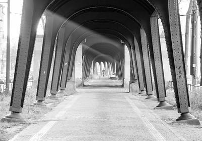 U Bahn viaduct on Shoenhauser Allee, Berlin