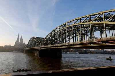 Hohenzollernbrücke, Hohenzollern Bridge, Kölner Dom, Cologne Cathedral, Cologne, North Rhine-Westphalia, Germany