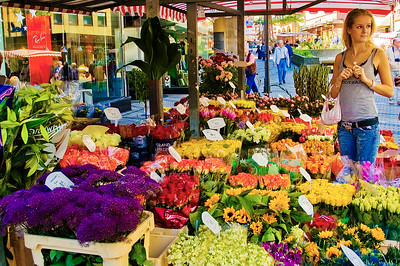 Richards___A Flower Market in Nurnburg