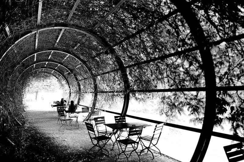 The Café at the Jewish Museum in Black & White. 2010.