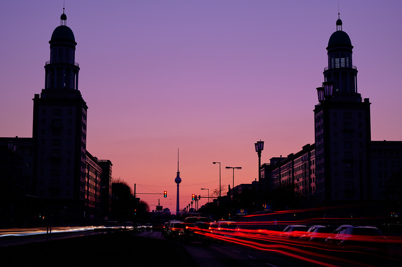 The Berlin TV Tower At Sunset.