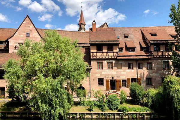 Old Town, Nürnberg, Nuremberg, Franconia, Bavaria, Germany