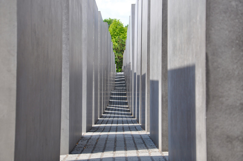 Inside the Berlin Holocaust Memorial. 2010.