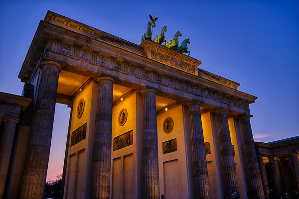 Brandenburg Gate at Sunset.