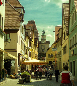 Kemmerer___A Street Scene in Rothenburg