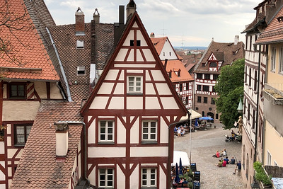 Weissgerbergasse, Sebalder Altstadt, Old Town, Nürnberg, Nuremberg, Franconia, Bavaria, Germany