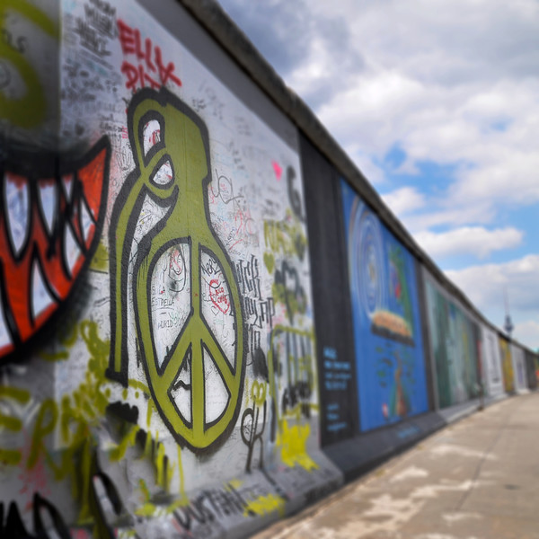 Peace Grenade on the Berlin Wall. 2010.