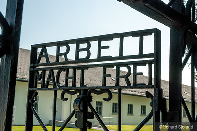 Arbeit Macht Frei sign  at the Dachau Concentration Camp  Dachau Germany