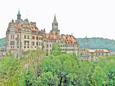 Schloss Sigmaringen Summer - Sigmaringen Germany 500 PPI