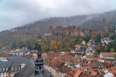 Heidelberg Castle in the fog