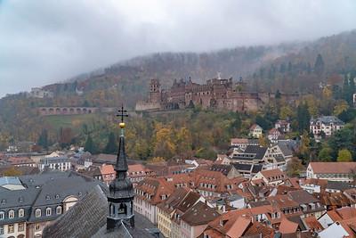 Heidelberg Castle in the fog