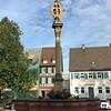 Ladenburg, Marktplatz mit Marien-Statue
