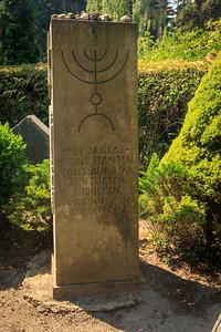 24 jüdische Grabsteine auf dem städtischen Friedhof, Bismarker Straße, Gardelegen