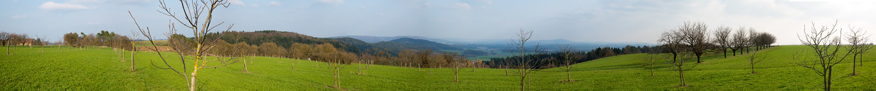Panorama of Franconian Jura in early spring.
