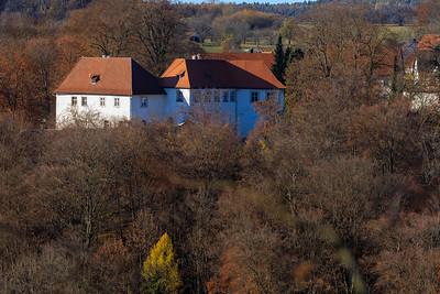Schloss Hundshaupten bei Egloffstein im Herbst