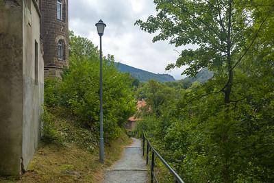 Blick ins Ilsetal vom Schloss Ilsenburg