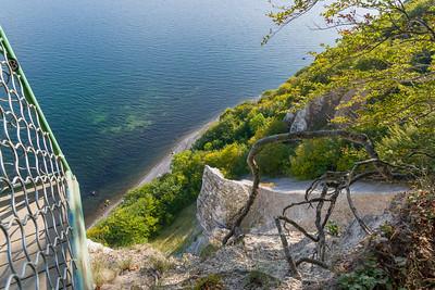 Steil nach unten, Victoriasicht im Nationalpark Jasmund