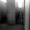 The Memorial to the Murdered Jews of Europe (Denkmal für die ermordeten Juden Europas), also known as the Holocaust Memorial (Holocaust-Mahnmal), in Berlin, Germany in February 2014