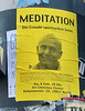Sri Chinmoy meditation poster in Potsdammer Platz in Berlin, Germany in February 2014