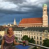 Nearing dusk atop the Bayerischer Hof Hotel in Munich at the Blue Spa bar.