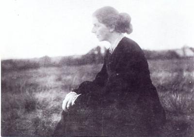 Paula Modersohn-Becker in Worpswede, 1905.