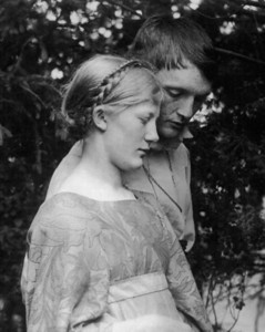 Jugendstil artist Heinrich Vogeler and his muse Martha Schroeder, a village girl, married in 1901.