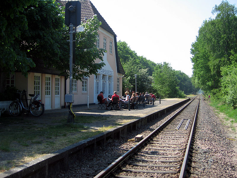 Worpswede Railroad Station.