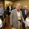 Fitchburg Rotary Club members sing happy birthday to Gerry Martel at the Fitchburg Rotary Club meeting held at Great Wolf Lodge New England as they celebrated his 90th birthday on Tuesday afternoon. SENTINEL & ENTERPRISE/JOHN LOVE