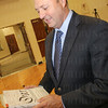 """New Albany Mayor Jeff Gahan with his well-worn copy of """"Our Declaration."""""""