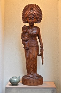 Throughout the house are artifacts given to the US Province from people and entities around the world. This statue is from Indonesia.