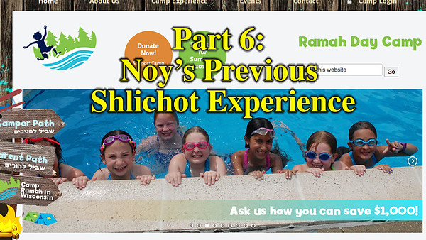 Noy's previous shlichot experience