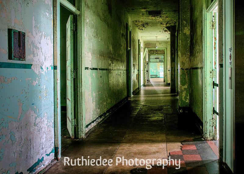 The upstairs hallway...
