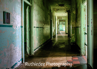 The upstairs hallway...